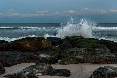 Photograph - On The Rocks II Lavallette New Jersey by Terry DeLuco