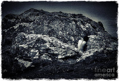 Self Portrait Photograph - On The Rocks Iv by Robert Brown