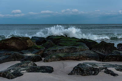 Photograph - On The Rocks Lavallette Nj by Terry DeLuco