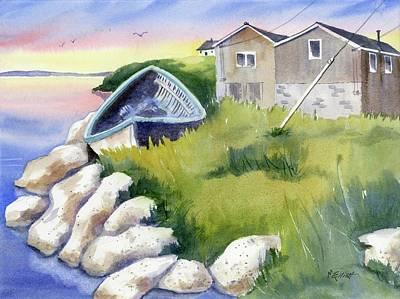 On The Rocks Art Print by Marsha Elliott