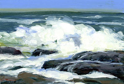 On The Rocks Art Print by Mary Byrom