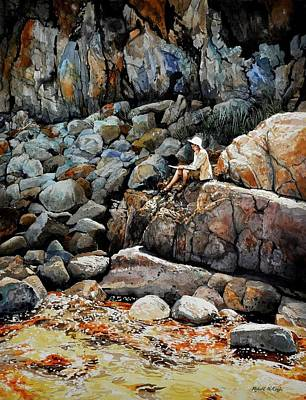 Painting - On The Rocks by Robert W Cook