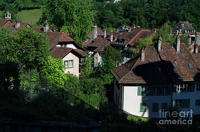 Photograph - on the roofs of Berne by Michelle Meenawong