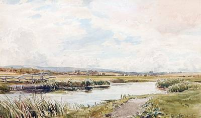 Collier Painting - On The Rother River by Thomas Collier
