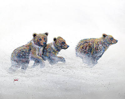 Painting - On The Run by Teshia Art