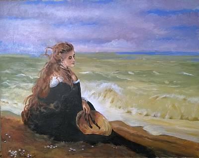 Painting - On The Seashore by R Adair
