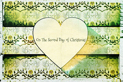 Drawing - On The Second Day Of Christmas by Sherry Flaker