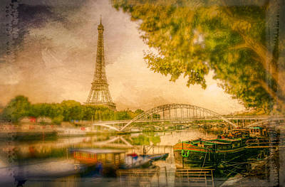 Abstract Digital Art Photograph - On The Seine by Alexander Hill
