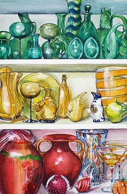Painting - On The Shelf by Jane Loveall