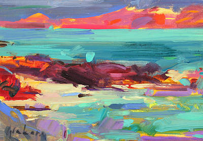 Sandy Cove Painting - On The Shore   Iona by Peter Graham
