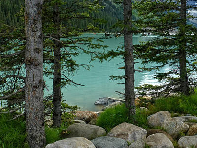 Banff Canada Photograph - On The Shore Of Lake Louise by Connie Handscomb
