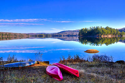 On The Shore Of Seventh Lake Art Print by David Patterson