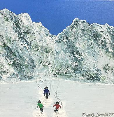Painting - On The Slopes by Elizabeth Langreiter