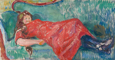 Painting - On The Sofa by Edvard Munch