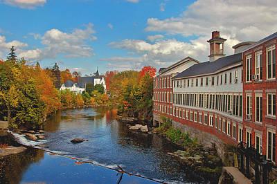 Autumn In New England Photograph - On The Souhegan by Joann Vitali