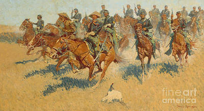 Horseback Painting - On The Southern Plains, 1907 by Frederic Remington