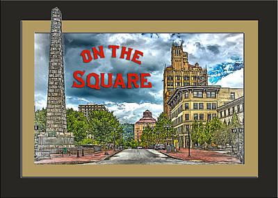 Digital Art - On The Square by John Haldane