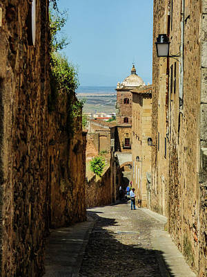 On The Streets Of Caceres Art Print
