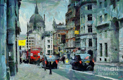 Painting - On The Streets Of London by Sergey Lukashin