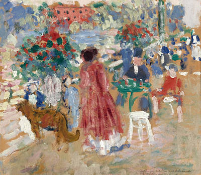 Painting - On The Terrace. The Botanic Gardens. Malines by Rik Wouters