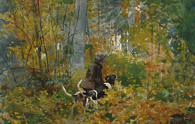 Painting - On The Trail by Winslow Homer