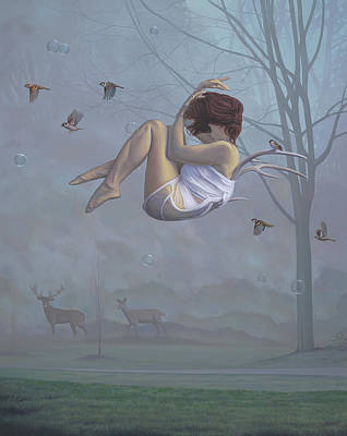 Floating Girl Painting - On The Transmigration Of Souls by Paul Bond