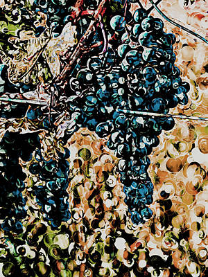 Digital Art - On The Vine - Abstract by Leslie Montgomery