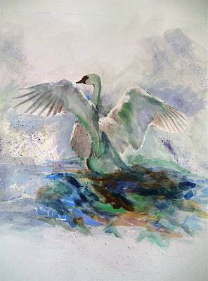 On The Water Art Print by Khalid Saeed