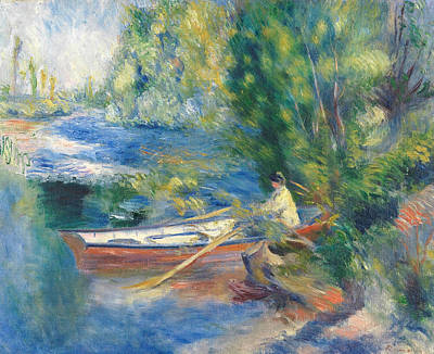 Painting - On The Waterfront by Auguste Renoir