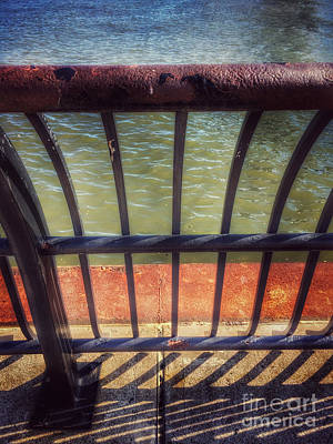 Photograph - On The Waterfront - Hoboken Pier by Miriam Danar