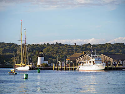 Photograph - On The Waterfront Mystic Ct by Marianne Campolongo