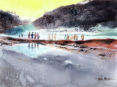 Painting - On The Way 2 by Anil Nene