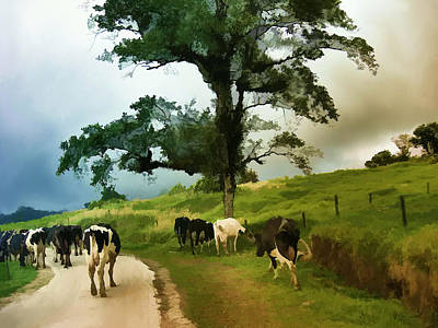 Art Print featuring the painting On The Way Home  by Elaine Manley