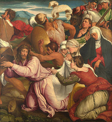 Christian Artwork Painting - On The Way To Calvary by Mountain Dreams