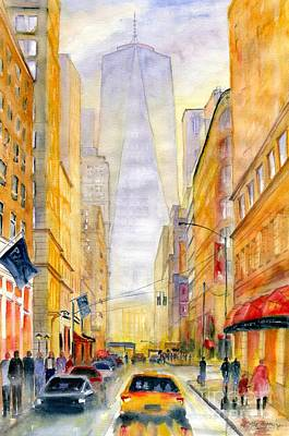 Painting - On The Way To Freedom Tower by Melly Terpening