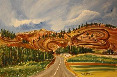 Painting - On The Way To Nazareth by Marwan  Khayat