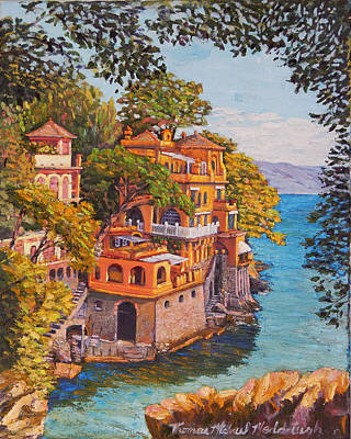 Painting - On The Way To Portofino by Thomas Michael Meddaugh