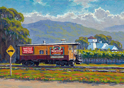 Napa Valley Vineyard Painting - On The Way To Sthelena Napa Valley by Tania Yukhimets