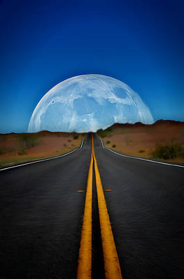 Digital Art - On The Way To The Moon by Dan Stone