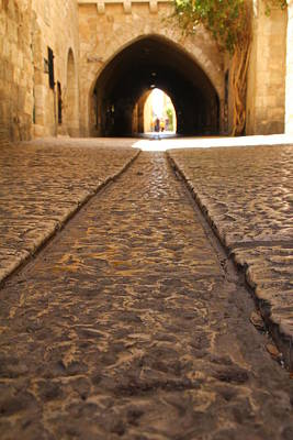 Art Print featuring the photograph On The Way To The Western Wall - The Kotel - Old City, Jerusalem, Israel by Yoel Koskas