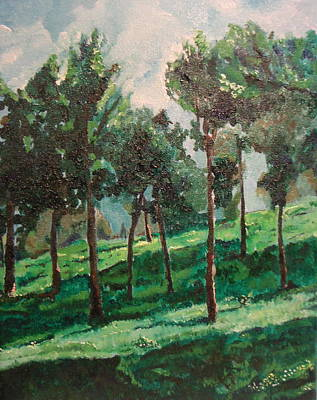 Painting - On The Way To Tzfat by Marwan  Khayat