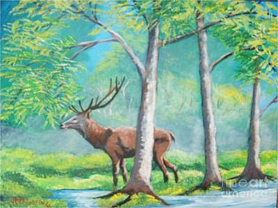 Painting - On The Wild by Jean Pierre Bergoeing