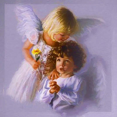Painting - On The Wings Of Angels by Ericamaxine Price