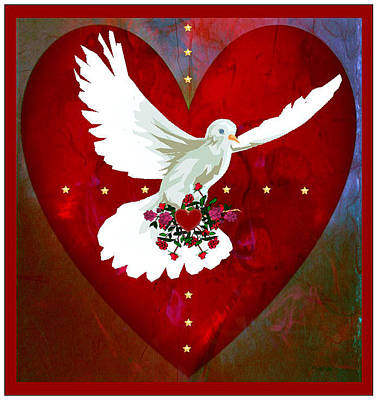 Digital Art - On The Wings Of Love by Mary Anne Ritchie