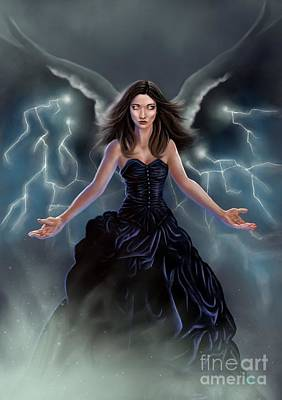 Art Print featuring the painting On The Wings Of The Storm by Amyla Silverflame