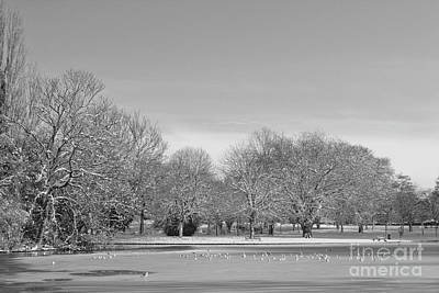 Photograph - On Thin Ice Mono by Baggieoldboy