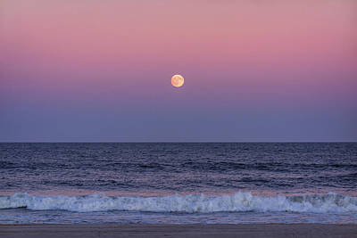 Photograph - On This Harvest Moon 2017 Jersey Shore by Terry DeLuco