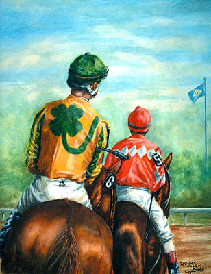 On To The Track Art Print by Thomas Allen Pauly