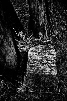 Photograph - Died 1874 On Tombstone by Paul W Faust - Impressions of Light