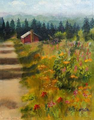 Smokey Mountains Painting - On Top Of Old Smokey by Ingrid Carson